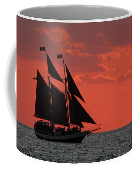 Sunset Coffee Mug featuring the photograph Key West Sunset Sail 5 by Bob Slitzan