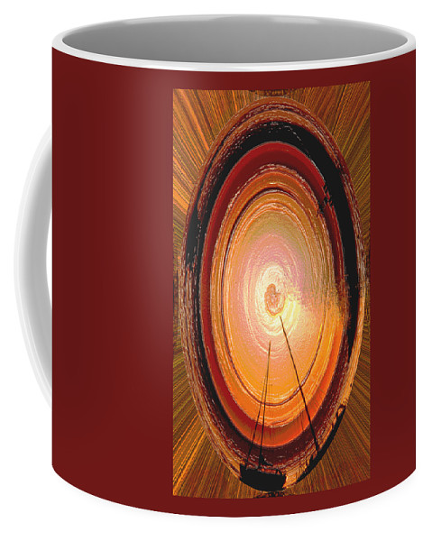 Sailboat Coffee Mug featuring the photograph Sailboat Abstract by Ana Gonzalez
