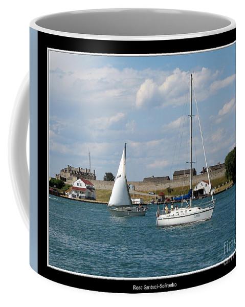 Old Fort Niagara Coffee Mug featuring the photograph Sailboat On Lake Ontario Near Old Fort Niagara 2 by Rose Santuci-Sofranko