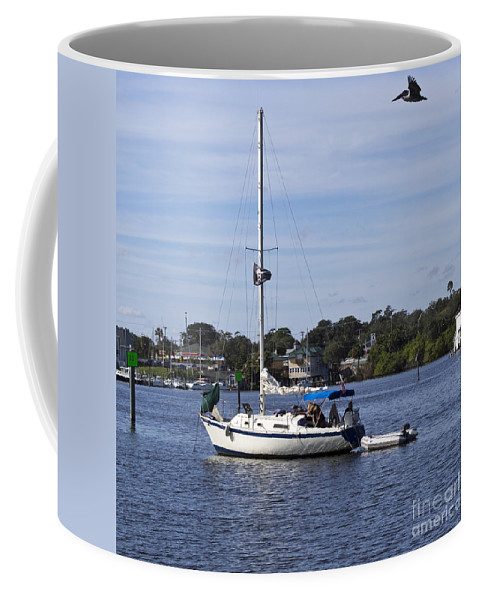 Sailing Coffee Mug featuring the photograph Sailing At Ballard Park On The Eau Gallie River In Melbourne Flo by Allan Hughes