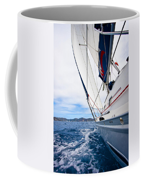 3scape Coffee Mug featuring the photograph Sailing Bvi by Adam Romanowicz
