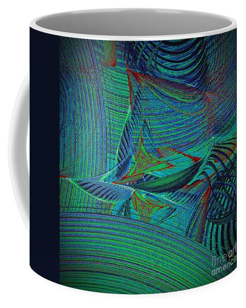 Sail Coffee Mug featuring the digital art Sailing In Rough Sea by Klara Acel