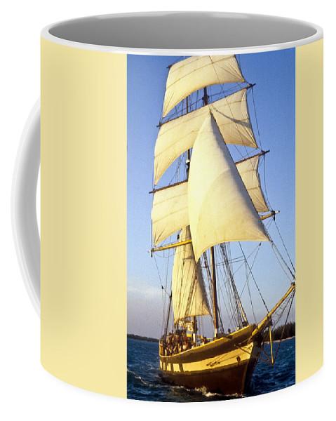 Carribean Coffee Mug featuring the photograph Sailing Ship Carribean by Douglas Barnett