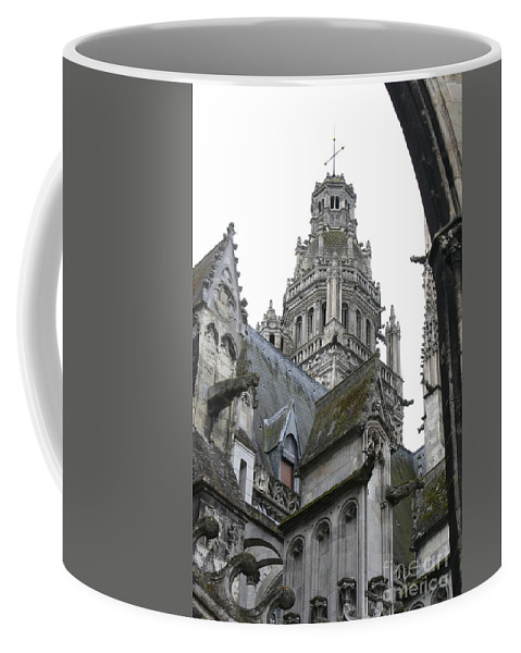Cathedral Coffee Mug featuring the photograph Saint Gatien's Cathedral Steeple by Christiane Schulze Art And Photography