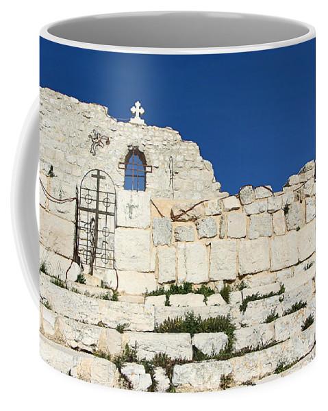 Saint Coffee Mug featuring the photograph Saint George Ruins by Munir Alawi
