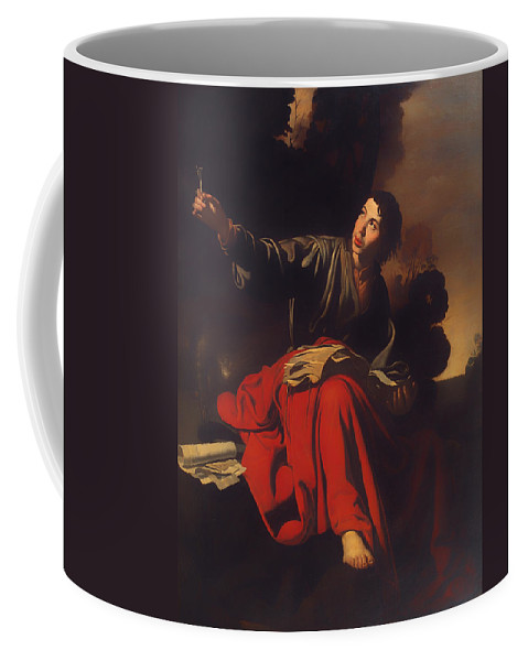 Painting Coffee Mug featuring the painting Saint John The Evangelist At Patmos by Mountain Dreams