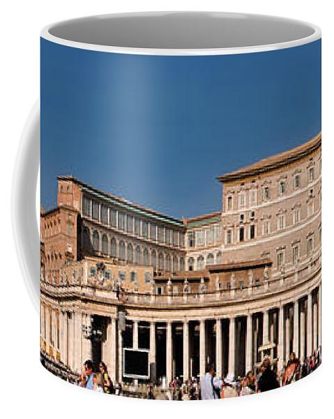 Saint Peters Square Coffee Mug featuring the photograph Saint Peters Square by Weston Westmoreland