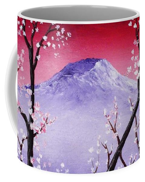 Malakhova Coffee Mug featuring the painting Sakura by Anastasiya Malakhova