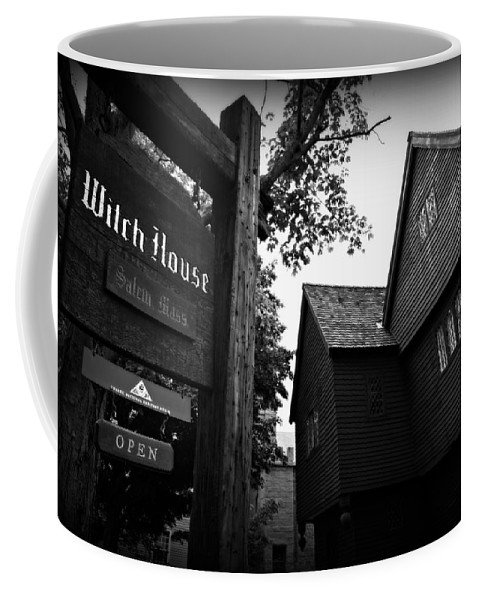 Salem Coffee Mug featuring the photograph Salem's Witch House by Stephen Stookey