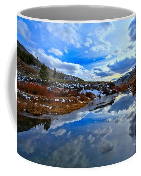Salt River Pass Coffee Mug featuring the photograph Salt River Reflections by Adam Jewell