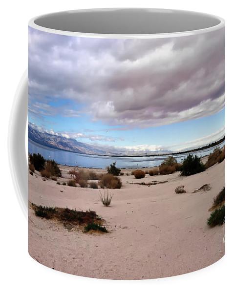 Desert Coffee Mug featuring the photograph Salton Sea California by Linda Dunn