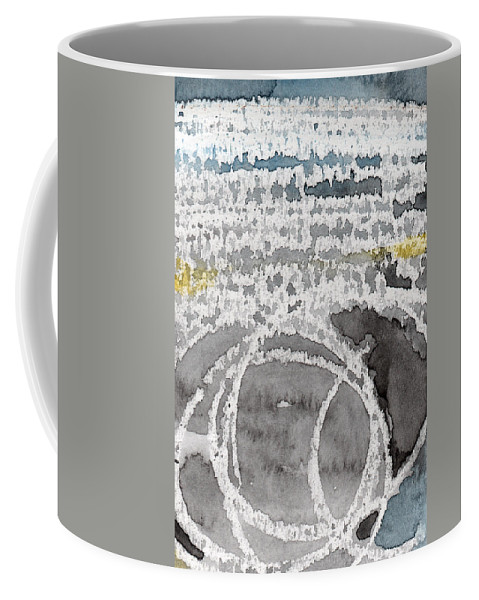 Water Coffee Mug featuring the painting Saltwater- Abstract Painting by Linda Woods