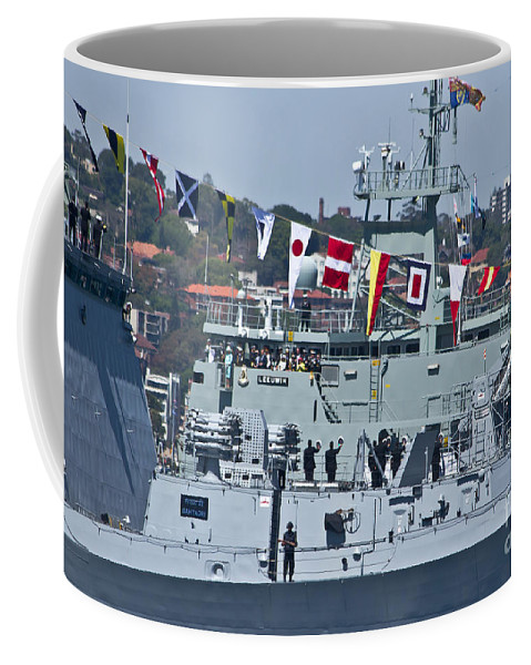 Saluting Coffee Mug featuring the photograph Saluting To Prince Harry by Miroslava Jurcik
