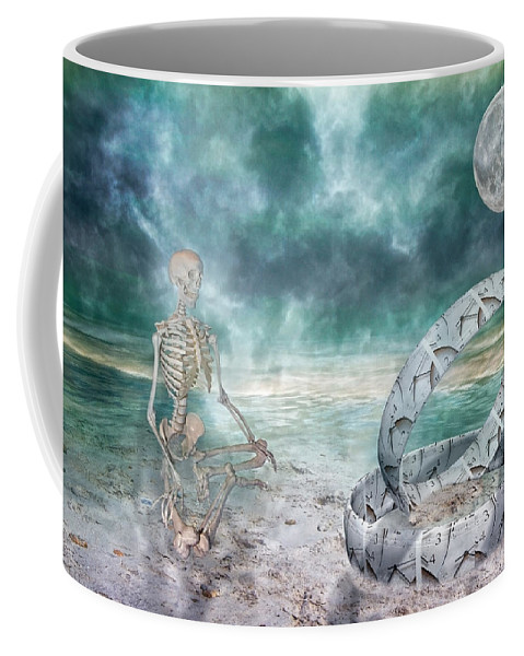Sam Coffee Mug featuring the digital art Sam Meditates With Time One Of Two by Betsy Knapp