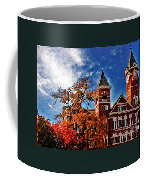 Auburn Coffee Mug featuring the photograph Samford Hall In The Fall by Victoria Lawrence