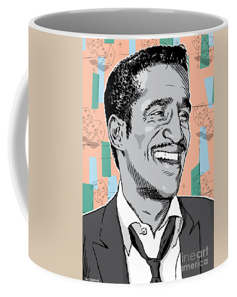 Music Coffee Mug featuring the digital art Sammy Davis Jr Pop Art by Jim Zahniser