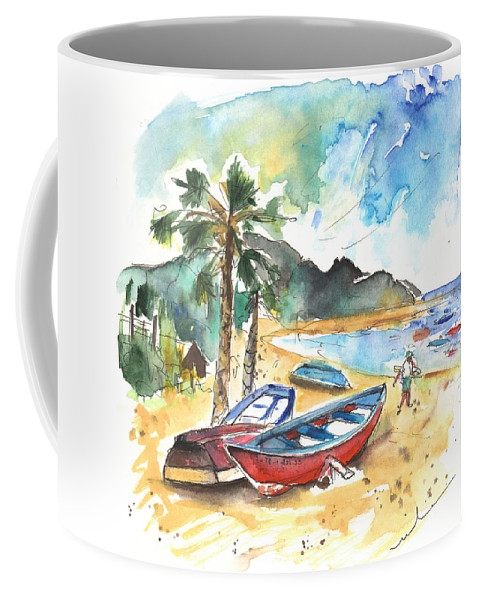 Coffee Mug featuring the painting San Andres 01 by Miki De Goodaboom