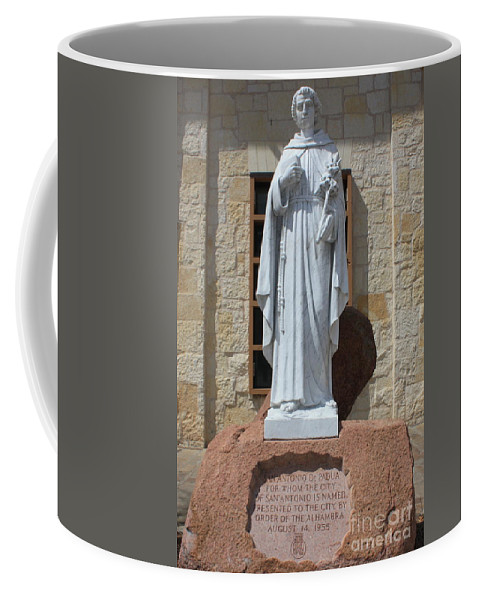 San Antonio Coffee Mug featuring the photograph San Antonio Statue by Carol Groenen