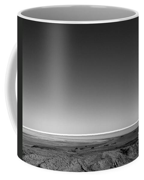 Black And White Coffee Mug featuring the photograph San Felipe Shrines North 10 by Jeff Brunton