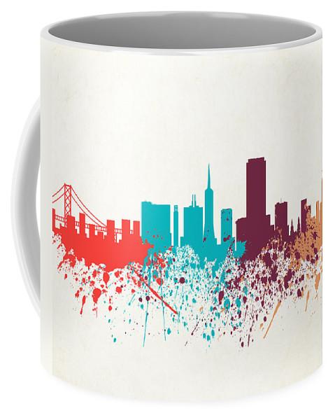 Amaerican Coffee Mug featuring the digital art San Francisco Skyline Paint by World Art Prints And Designs