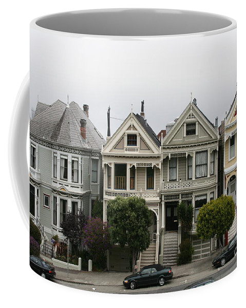 San Francisco Coffee Mug featuring the photograph San Francisco - The Painted Ladies by Christiane Schulze Art And Photography