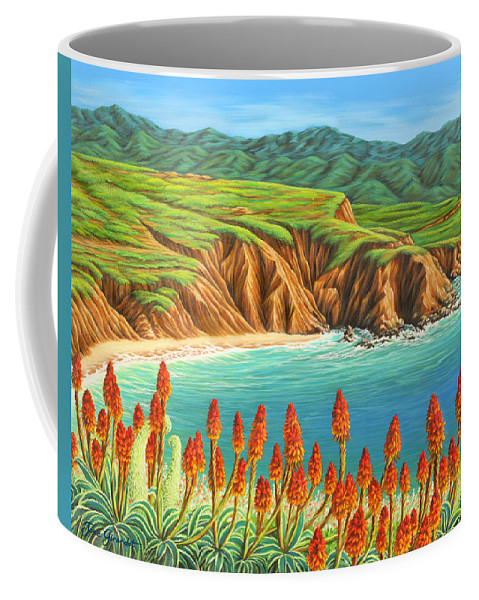 Ocean Coffee Mug featuring the painting San Mateo Springtime by Jane Girardot