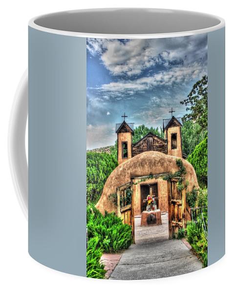 Santuario De Chimayo Coffee Mug featuring the photograph Santuario De Chimayo by Lanita Williams