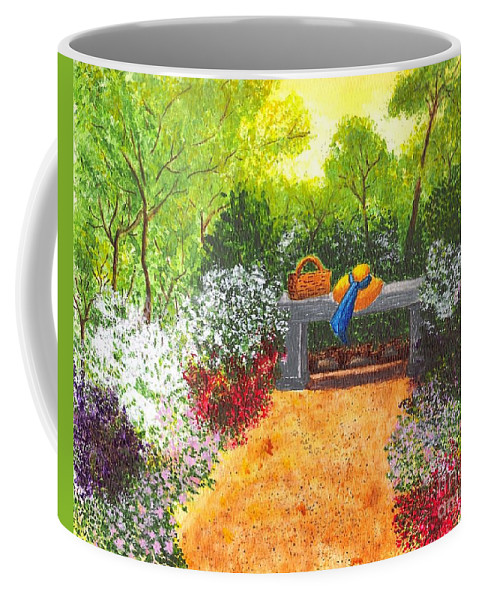 Garden Painting Coffee Mug featuring the painting Sanctuary by Patricia Griffin Brett