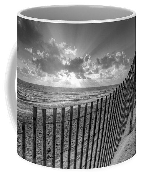 Atlantic Coffee Mug featuring the photograph Sand Dunes In Black And White by Debra and Dave Vanderlaan