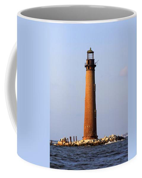 Lighthouse Coffee Mug featuring the photograph Sand Island Lighthouse - Alabama by Travis Truelove