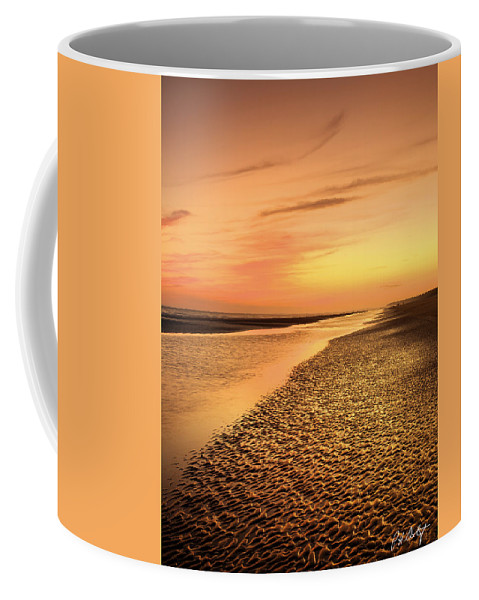 Beach Coffee Mug featuring the photograph Sand Ripples by Phill Doherty