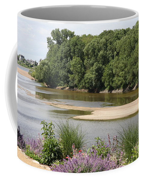 River Coffee Mug featuring the photograph Sandbanks In The River by Christiane Schulze Art And Photography