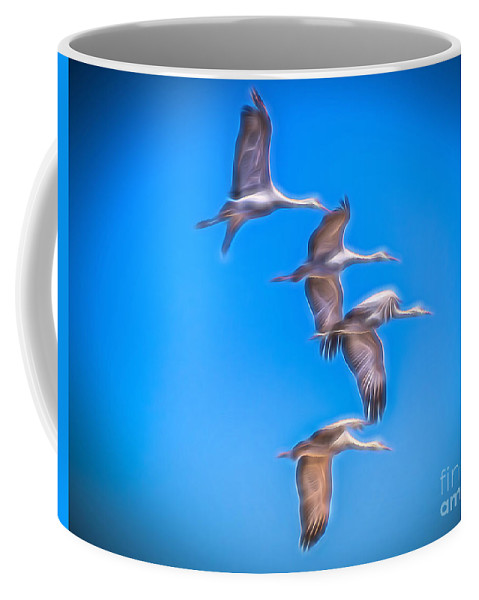 Sandhill Crane Coffee Mug featuring the photograph Sandhill Crane 10 by Larry White