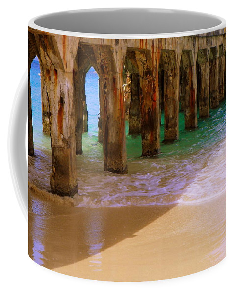 Beaches Coffee Mug featuring the photograph Sands Of Time by Karen Wiles