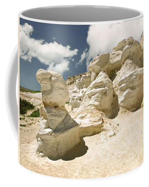 Landscape Coffee Mug featuring the photograph Sandstone And Sky by John Anderson