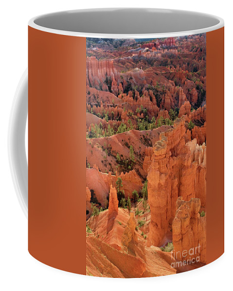 North America Coffee Mug featuring the photograph Sandstone Hoodoos At Sunrise Bryce Canyon National Park Utah by Dave Welling