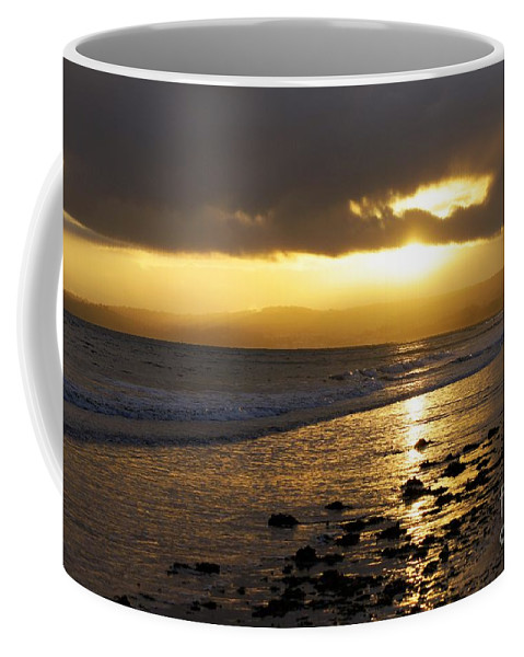Sunset Coffee Mug featuring the photograph Sandy Bay At Dusk by Jonathan Steward