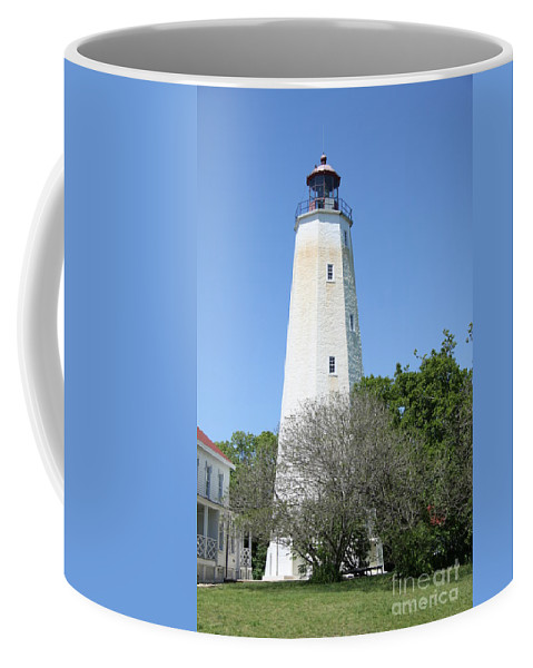 Lighthouse Coffee Mug featuring the photograph Sandy Hook Lighthouse II by Christiane Schulze Art And Photography
