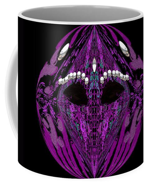 Mask Coffee Mug featuring the digital art Sanjiloto by Subbora Jackson