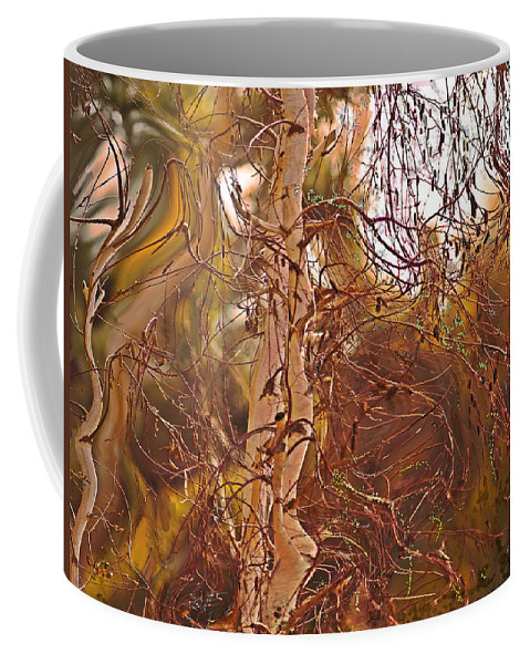 Santa Ana Coffee Mug featuring the painting Santa Ana Winds In Southern California by Angela Stanton