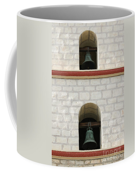 Church Coffee Mug featuring the photograph Santa Barbara Mission Bells by Henrik Lehnerer