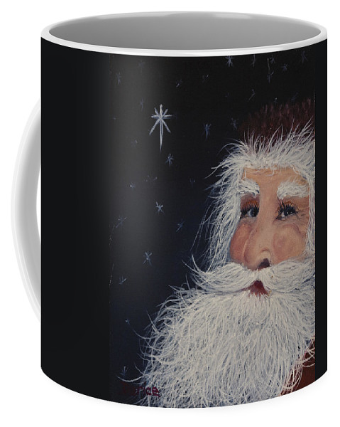 Santa Claus Coffee Mug featuring the painting Santa Claus by Darice Machel McGuire