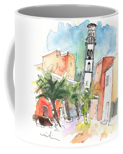 Travel Coffee Mug featuring the painting Santa Cruz De Tenerife 02 by Miki De Goodaboom