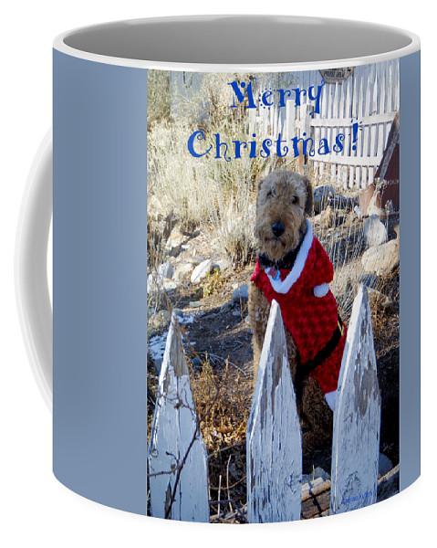 Santa Fe Coffee Mug featuring the photograph Santa Dog-2 by Tamara Kulish