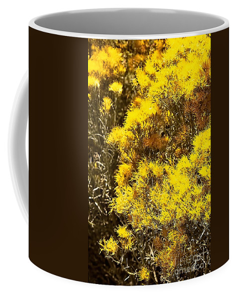 Color Photo Coffee Mug featuring the digital art Santa Fe Yellow by Tim Richards