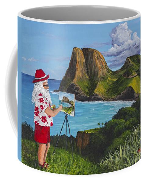 Seascape Coffee Mug featuring the painting Santa In Kahakuloa Maui by Darice Machel McGuire