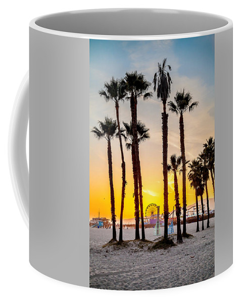 Los Angeles Coffee Mug featuring the photograph Santa Monica Palms by Az Jackson