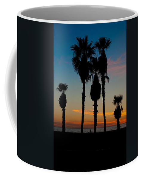 Waiting Room Coffee Mug featuring the photograph Santa Monica Sunset by David Smith