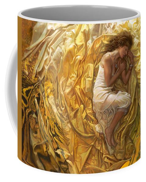 Conceptual Coffee Mug featuring the painting Santita by Mia Tavonatti