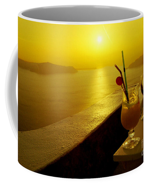 Santorini Coffee Mug featuring the photograph Santorini Sunset by Madeline Ellis